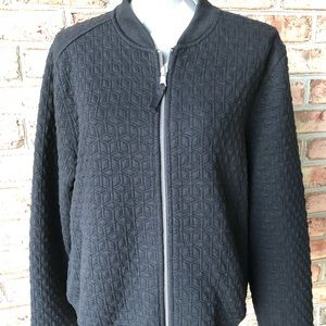 Gap quilted bomber style jacket in black  Size xl